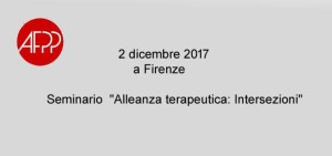 """""""Alleanza terapeutica: Intersezioni"""" seminario a Firenze"""